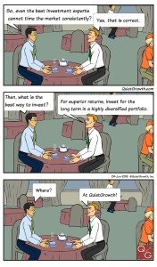 Cartoon 1: Investment for long term in diversified portfolio