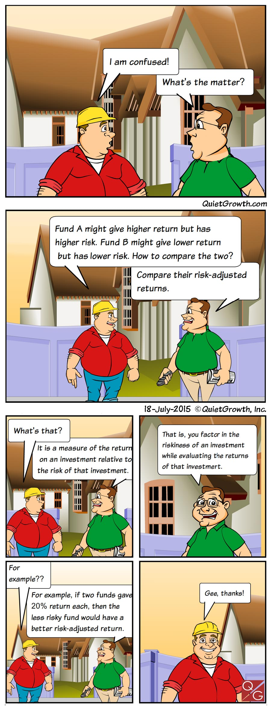 Cartoon 8: Risk-adjusted returns
