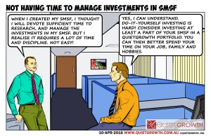 Cartoon 25: Not having time to manage investments in SMSF