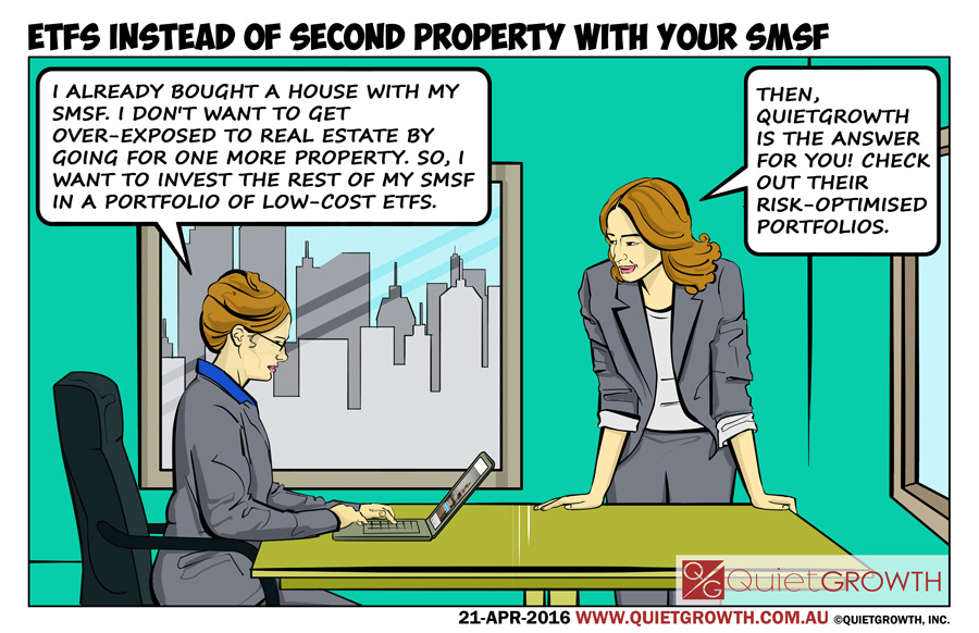 Cartoon 26: ETFs instead of second property with your SMSF