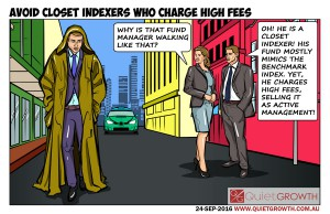 Cartoon 32: Avoid closet indexers who charge high fees