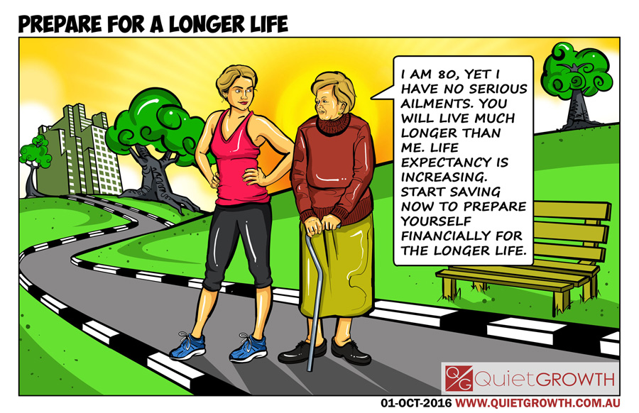Cartoon 33: Prepare for a longer life