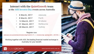 QuietGrowth at ASX Investor Day events