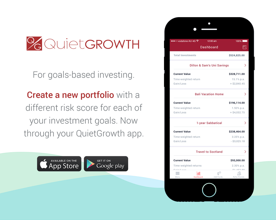 QuietGrowth App Multiple Portfolios